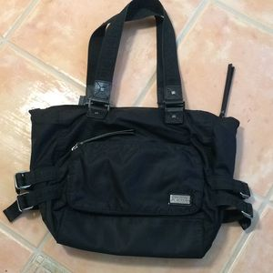 Kenneth Cole Black Nylon Tote/laptop Bag